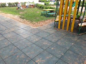 Резиновая плитка в детском саду 6