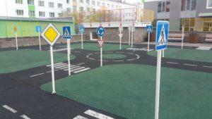 Детская площадка с резиновым бесшовным покрытием 40