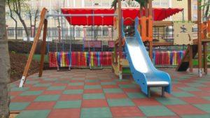 Резиновая плитка и детская площадка 4