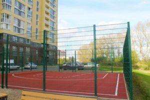 Спортивная площадка с резиновым покрытием 33