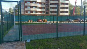 Резиновая плитка на спортивной площадке в Ижевске