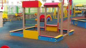 Детская игровая площадка с бесшовным резиновым покрытием 17