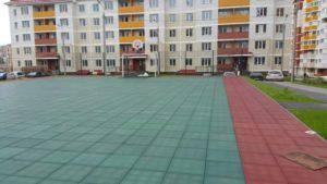 Спортивная площадка с резиновой плиткой 5