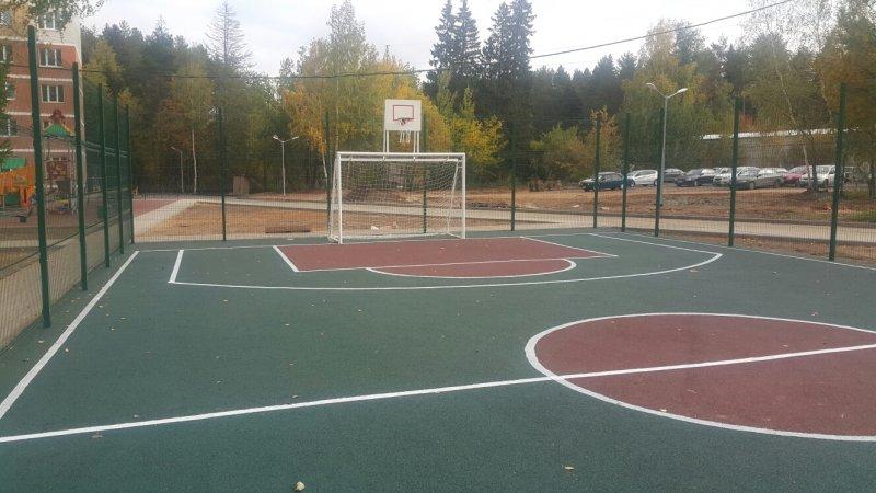 Спортивная площадка с бесшовным резиновым покрытием 31
