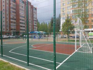 Детская игровая площадка с бесшовным резиновым покрытием 21